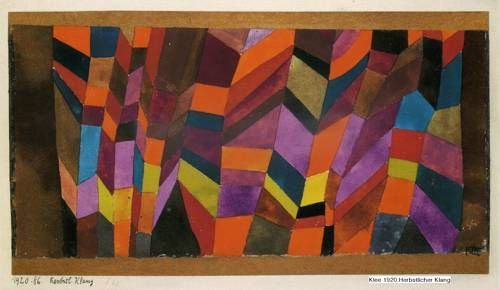 paul klee herbstklang autumn sound 1920 kunst kunstwerke abstrakte skulpturen bilder modern abstrakt