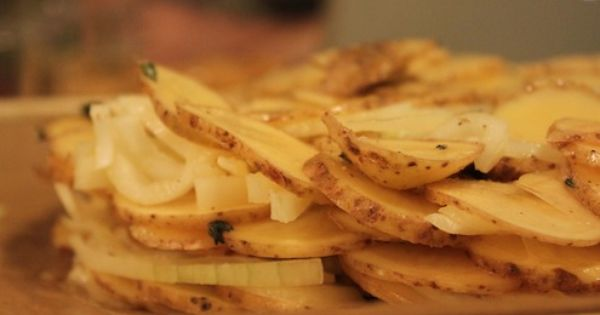 Duck Fat-Potato Galette with Caraway and Sweet Onions | Recipe | Nyc ...