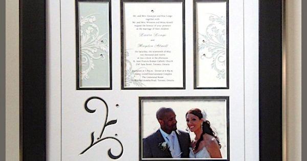Wedding invitation with photo   WEDDING   Framing Ideas   Pinterest   Photo craft, Shadow box ...