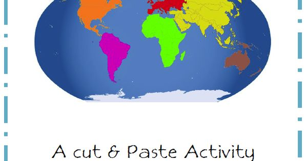 Continents Cut and Paste Discovering Homeschool Social StudiesCurrClick Geography