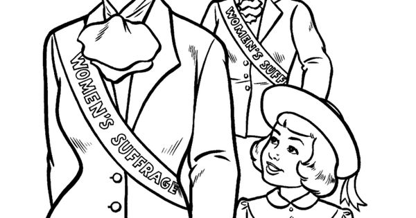 Suffragette City Historical Coloring Pages for Kids