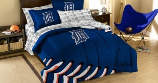mlb detroit tigers twin full sized comforter with shams by northwest