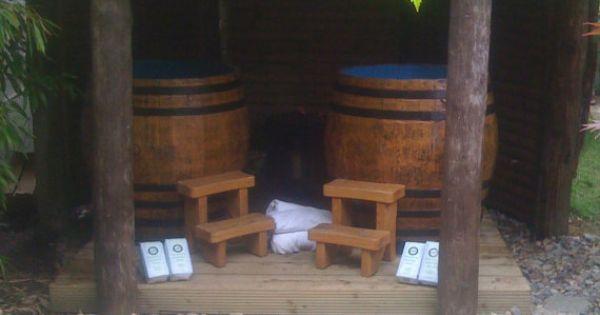 Wood fired whiskey barrel hot tub by whiskeybarrelhottubs for Whiskey barrel bathtub