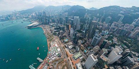 Panoramic Aerial View Of Hong Kong City Aff View Aerial Panoramic City Kong Ad In 2020 Aerial Aerial View Panoramic