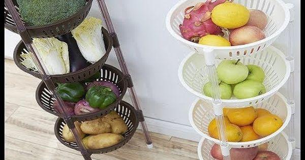 افكار وأشكال سلال مطبخ لتخزين الخضروات اجمل سلات خضار للمطبخ ترتيب الخضا Shelf Baskets Storage Storage Baskets Storage Supplies