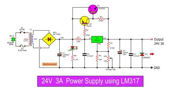 Pin On Power Supply Circuit
