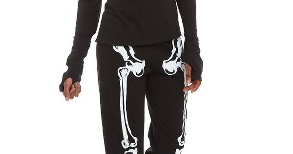 Skeleton Heart Glow-In-The-Dark Jersey Pajama Set | Hot Topic