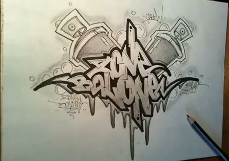 How to draw graffiti sketch letters 39 zone balone 39 art grafitti pinterest graffiti - Graffiti ideen ...