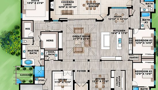 House Plan 207 00033 Coastal Plan 4018 Square Feet 4