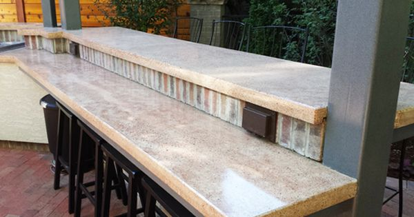 Cinder Block Outdoor Table With Grill And Bar Enjoy