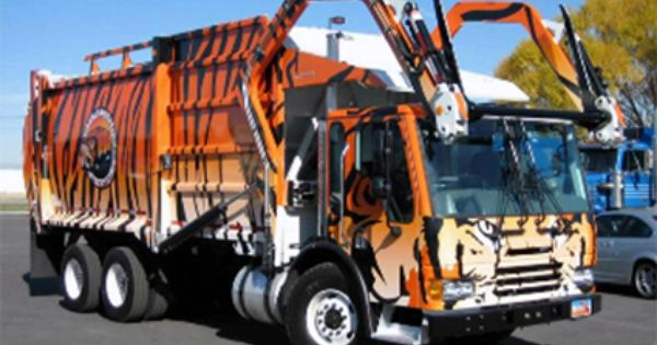 Garbage Truck Wrap Imagin Jt5929bfdm With Images Rubbish