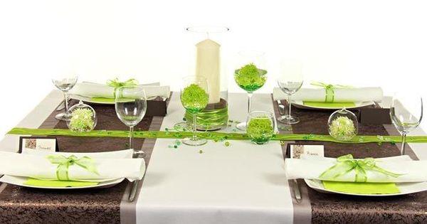 Tischdeko grün und braun, #Tischdekoration in wenigen Schritten ...