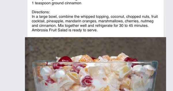 ambrosia dessert definition for essays