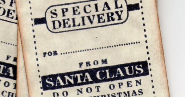 Christmas Gift Tags / Special Delivery From Santa / Labels / Hang