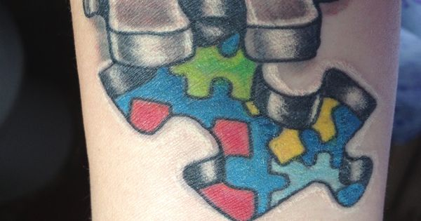 40 Cool Puzzle Piece Tattoo Design Ideas Autism Tattoos Autism And Sons