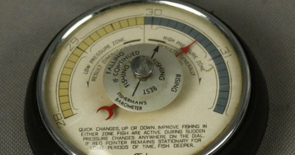 Vintage taylor fishing guide fisherman 39 s barometer for Barometer and fishing