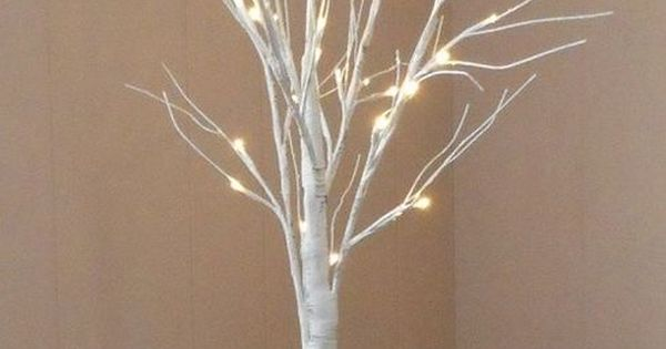 4 Birch Tree With 48 Glowing Led Lights Artificial Trees