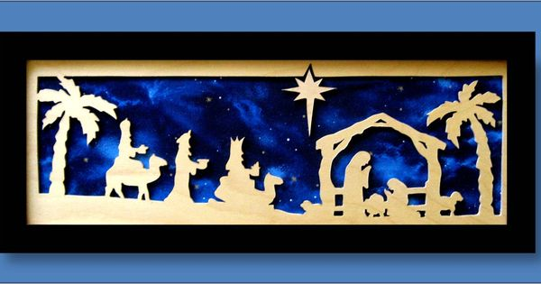 Nativity scene this scroll saw cutout was framed and for Nativity cut out patterns wood