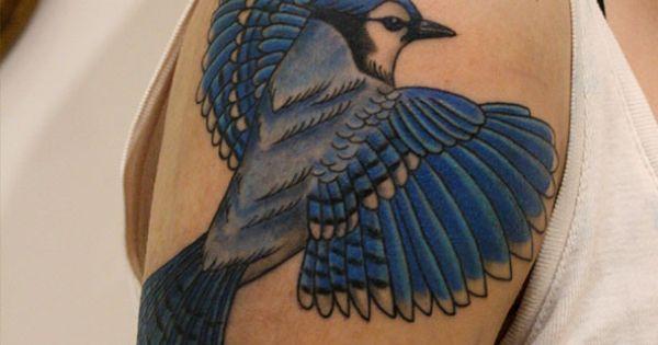 blue jay tattoo tatouage geai bleu tatouage pinterest tatouage de geai bleu geai et. Black Bedroom Furniture Sets. Home Design Ideas