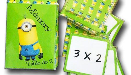 M mory des tables de multiplication apprendre les tables - Apprendre tables de multiplication en jouant ...