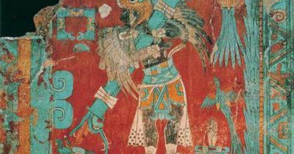 Pintura mural en cacaxtla m xico de la cultura olmeca for Arte mural en mexico