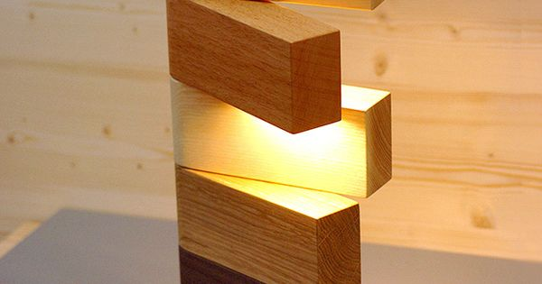 Side Lamp table light by Thomas Lemut, collaborating with the cabinet maker