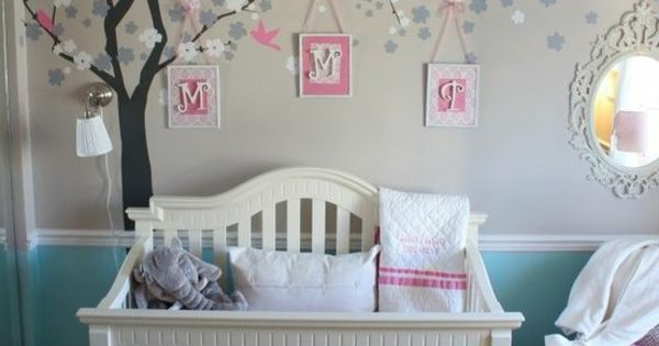 Wandgestaltung : wunderschöne wandgestaltung im Babyzimmer ...