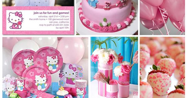 Hello kitty birthday party ideas - thanks @Tina Doshi Doshi Doshi Doshi