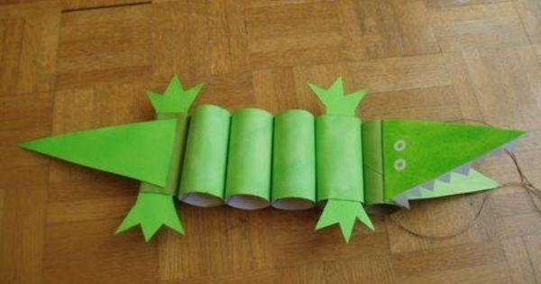 Crocodile Kids Craft Using Toilet Rolls Good Tutorial Easy To