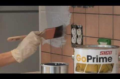 Peinturer un dosseret de c ramique dosseret cuisine for Peinturer un comptoir de salle de bain