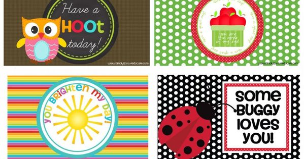 Printable lunch box notes These notes are perfect for back to school.