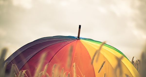 Behind the darkness,there is always an umbrella full of bright colors that