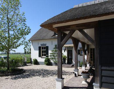 Aanbouw en veranda met constructie van eikenhout projecten woningen verbouw pinterest - Architectuur en constructie ...