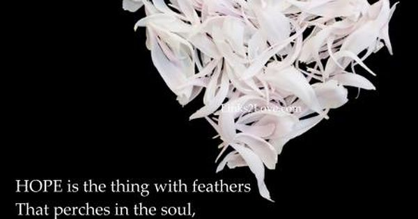 Hope Is The Thing With Feathers Love Poem Romantic Poetry