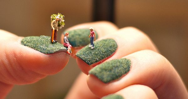 Eco - nail Design with little people!
