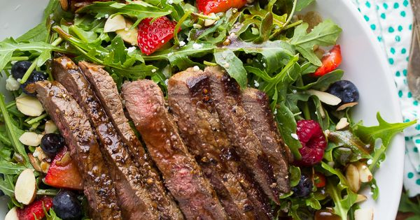 Strawberry Arugula Salad with Steak & Balsamic Vinaigrette ...
