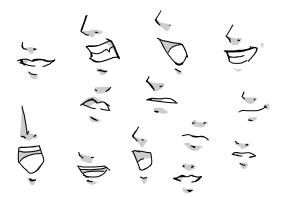 How To Draw A Manga Girl My Style Lips Drawing Anime Mouth Drawing Nose Drawing