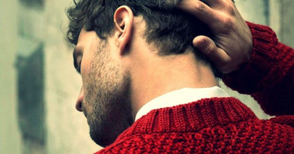 red sweater | men style