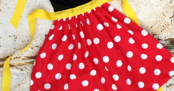 MINNIE MOUSE Apron Sewing PATTERN.