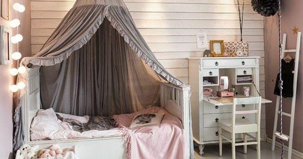 kinderzimmer m dchenzimmer sch ne lichtkette betthimmel. Black Bedroom Furniture Sets. Home Design Ideas