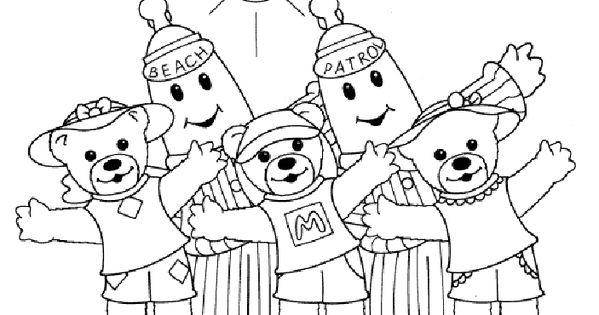 Coloringpages1001 Com: Bananas In Pyjamas Coloring Pages