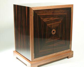 Macassar Ebony Two Door Cabinet Cabinet Drawer Unit Furniture