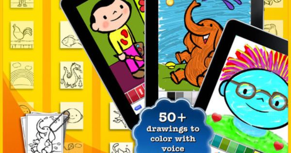 Color Draw For Kids Hd 4 Apps In 1 Coloring Book For Ipad 1 99 1 Drawing And Sketching App 2 Coloring Book App Drawing For Kids Colorful Drawings