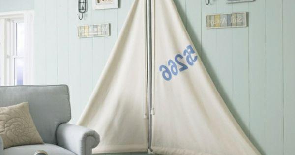 Seesegel wohnzimmer maritime look deko selber machen - Maritime wandgestaltung ...