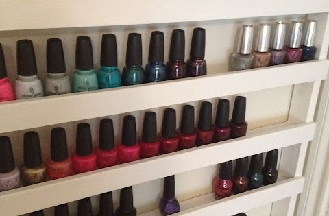 How to build your own nail polish rack. Forget nailpolish. This is
