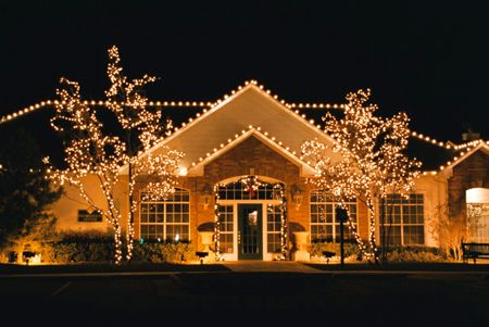 A Real Estate Christmas Decorating Client 39 S Homes For The Holidays Outdoor Christmas Lights Christmas House Lights Christmas Lights Outside