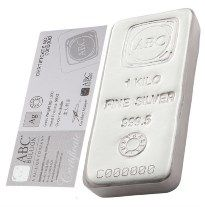 Abc Silver Bar 1 Kg Vat Free Silver Bars Gold Bullion Bars Silver