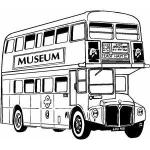 England Bus Bus Drawing Coloring Pages