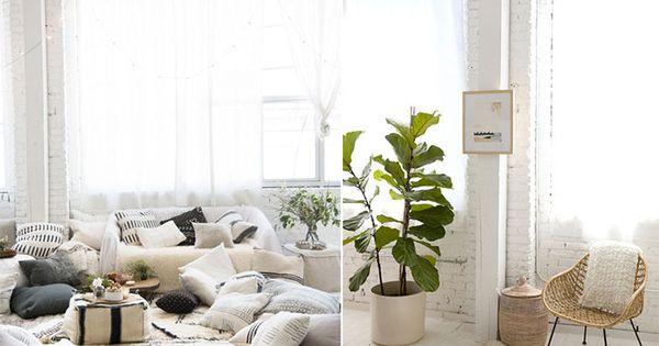 mur en briques peint en blanc d coration style berb re couleurs claires et mati res naturelles. Black Bedroom Furniture Sets. Home Design Ideas