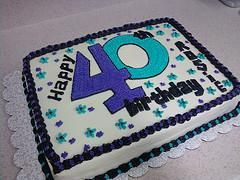 Admirable 40Th Birthday Cake Ideas With Images Birthday Sheet Cakes Funny Birthday Cards Online Elaedamsfinfo